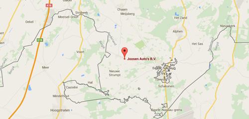 Joosen Auto's - Contact & Route